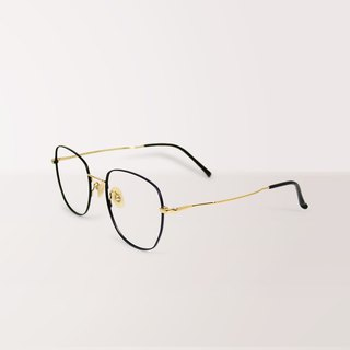Luxury│Anti-blue light glasses with super light black titanium frame