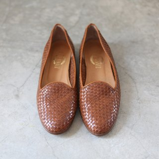 A ROOM MODEL - VINTAGE, ZINNIA CLUB brown woven shoes / SC-0983