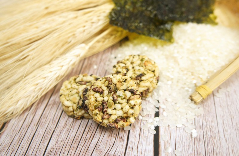 午後小食光│米香圓圓酥-海苔(80g/包)