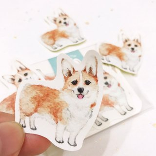 Puppy Series Sticker-Stickers,Watercolor,illustrations,Sticker,Corgi Sticker,cute Stickers,Handmade Sticker,Laptop Sticker
