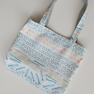 Buy bag striped fish print