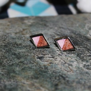 Laurence Anyways Fimo pin earrings - pink X Rose Gold