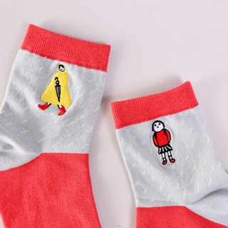 Picture book painter cooperation item foot memory northwest rain cotton socks