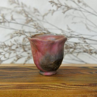 Wood fired pottery. Hand pinch small tea cups grow like flowers 3