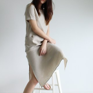 Made to order linen dress / linen clothing / long dress / casual dress E23D