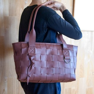 Woven Leather Bag / Mesh Leather Bag