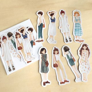 / Street Fashion / Waterproof Stickers/ 8pcs /