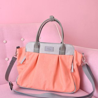 peach purse, medium cross body bag