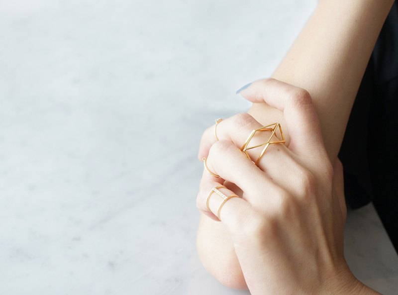 【Geo】Ring-3D Gold Geometry-