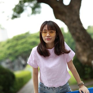 Basic crop soft pink