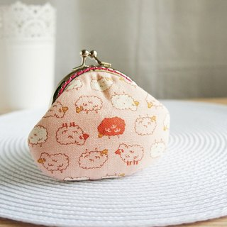 Lovely little sheep gold coin purse, pink