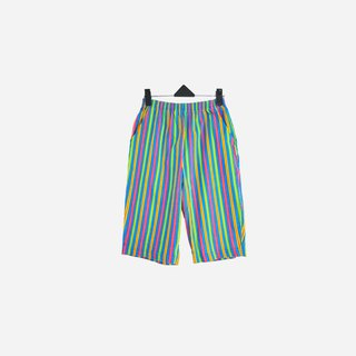 Dislocation vintage / straight striped shorts no.643 vintage