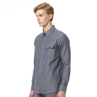 Caveman Shirt - Tallis Dark Grey Stripe