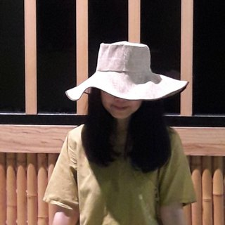 Super cool breathable woven extra wide hat 檐 choice plain or embroidery