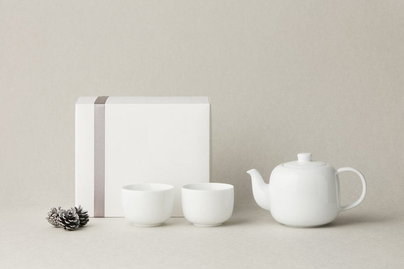 TG 白瓷茶壺品茗禮盒組