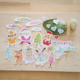 Christmas hand-painted stickers (optional paper)