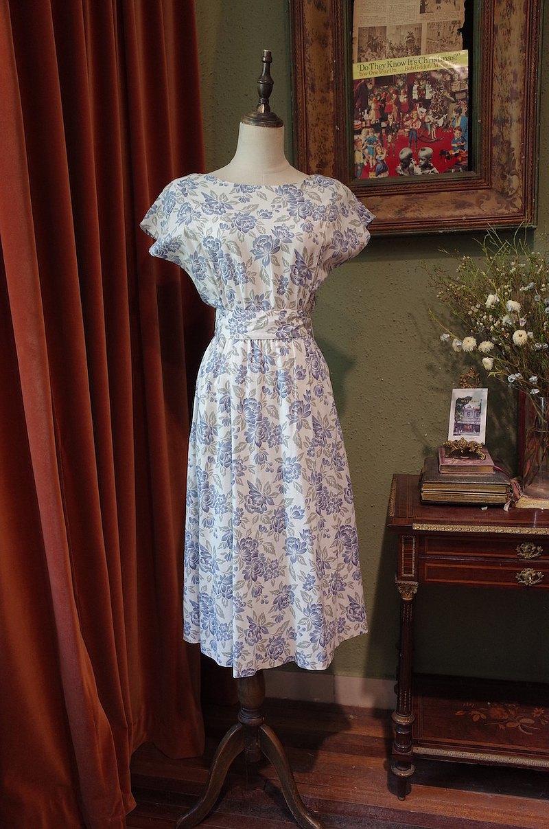 vintage dress印花連衣裙 古著洋裝