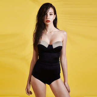Nara - One piece swimwear color: Blossom/Midnight  (CREX89)
