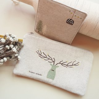Hand-painted Miracle Elk mobile phone out small bag & happiness coaster (combination ceremony)