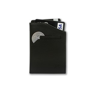 Smallest Minimalist Wallet - Natsu Wallet (Midnight Black)
