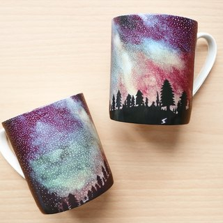 Bone China Mug - Galaxy / Milky Way / Starry Sky / microwave / through SGS