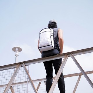 ZIRCON function after white minimalist backpack