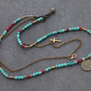Turquoise Chain Birthstone Necklaces Custom Personalize Zodiac Chain Layer