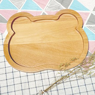 Wood for cute animal plate - bear money