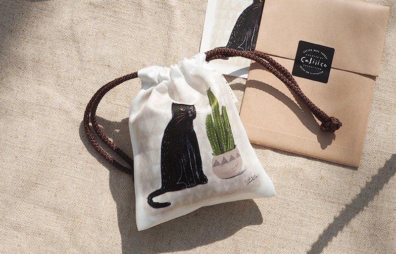 黑貓仙人掌小包