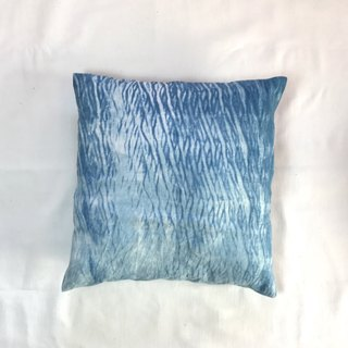 Cushion Cover Indigo dyed Indigo dye - eye dye shibori cushion