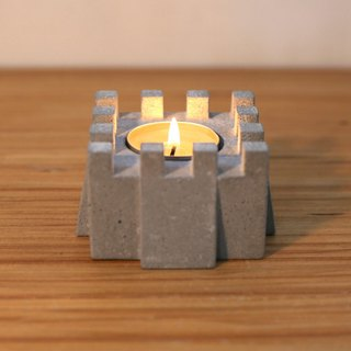 Fort of Light Cement Candlestick