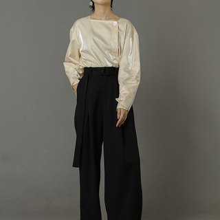 High Waisted Palazzo Pants with Side Pockets