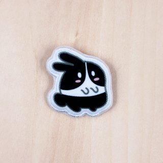 Rice fried rice cake Oreo cloth rabbit brooch / badge (BH003A)