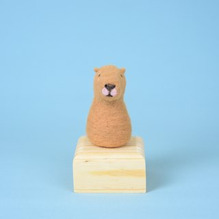 """All 8 folds from the whole hall"" Flat nose treatment Animal wild animal capybara wool felt ornaments"