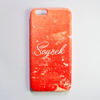 SO GEEK Mobile Shell Design Brand THE GRUNGE GEEK Street Spray Paint (Red)