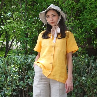 New Foak Linen Shirt in Mustard