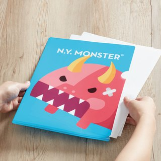 NYMONSTER New Year animal theme L-type folder (blue red)