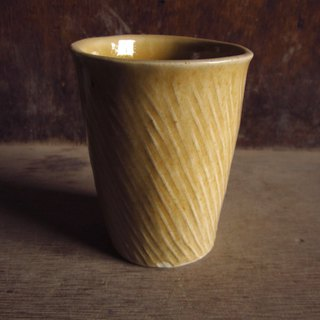Mango yellow hand squeeze twill cups