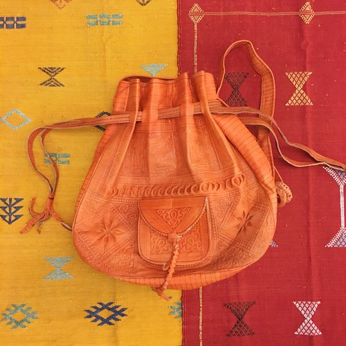 Happy New Year purse bag full of Moroccan camels