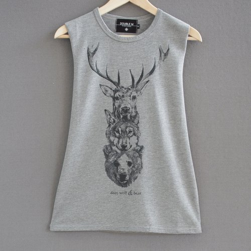 Animal Magic Double M Tee vest boys and girls can wear!