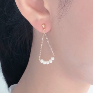 【Swing】Japan pearl natural 14K earrings
