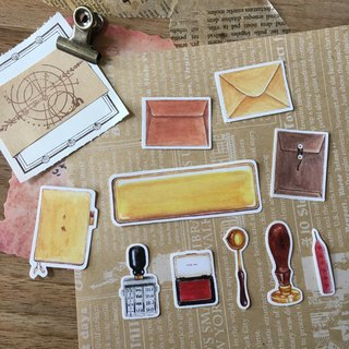 Stickers Set / Stamp and Letter / Stationary Talk