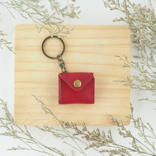 Mini chiffon keychain red small purse envelope styling necklace