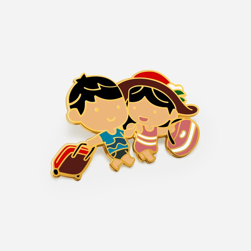 Love is...traveling together - Exclusive Bean It x HJ-Story Collaboration pin
