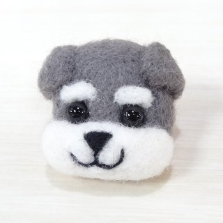 Schnauzer or Miguelo- Wool felt (Safety pin or magnet)