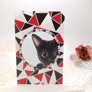Mosaic animals Post Card, Black Cat