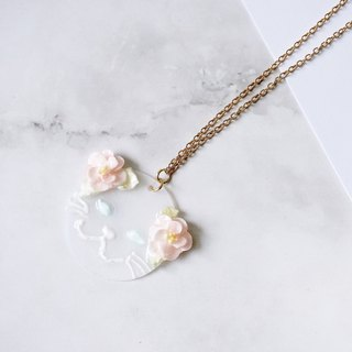 Kitty Cat Foral Necklace White ver. =Flower Piping=
