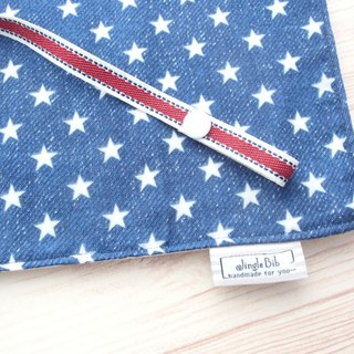 Diaper Changing Mat,Rolled Change Pad,Travel Changing Mat,Waterproof,White Stars on Navy Denim Print,Portable,Foldable,Baby Boy,Shower Gift