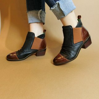 Painting children # 8082 | | Box color ankle boots Knight forward two steps to E5 handsome black ||