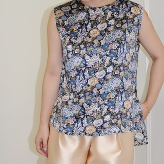 Flat 135 X Taiwan Designer Series 100%silk 100% Silk Fabric Sleeveless Top